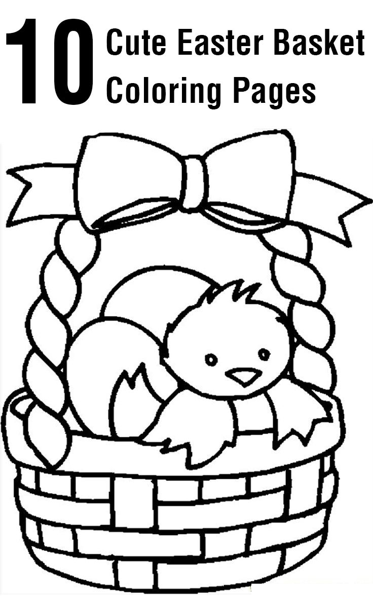 Top 10 Free Printable Easter Basket Coloring Pages Online   Coloring - Free Printable Easter Basket Coloring Pages