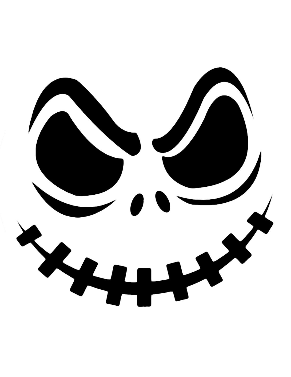 Top Printable Scary Face Pumpkin Carving Pattern Design Stencils - Printable Nfl Pumpkin Carving Patterns Free