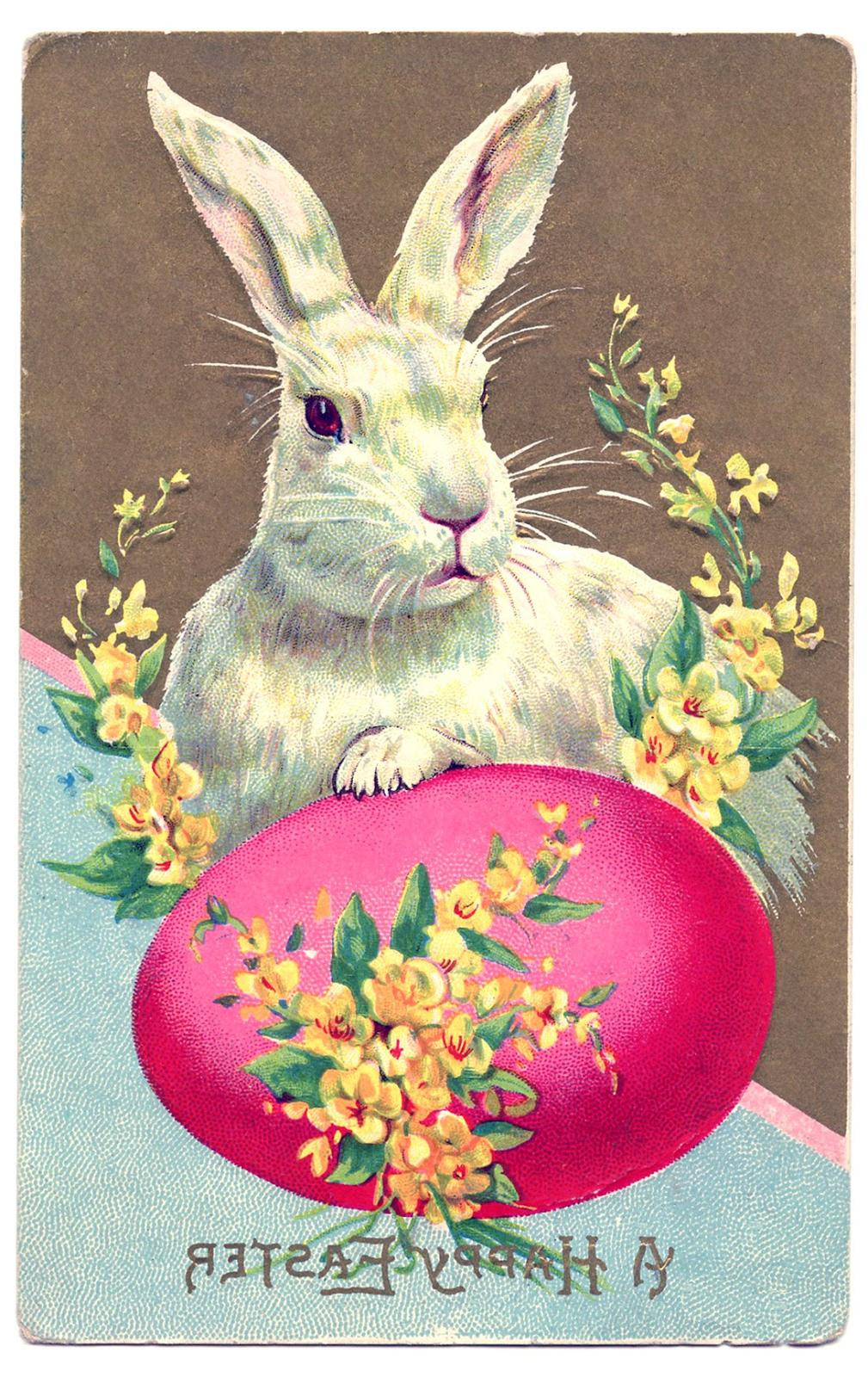 Top Vintage Easter Graphics Vector Design » Free Vector Art, Images - Free Printable Vintage Easter Images
