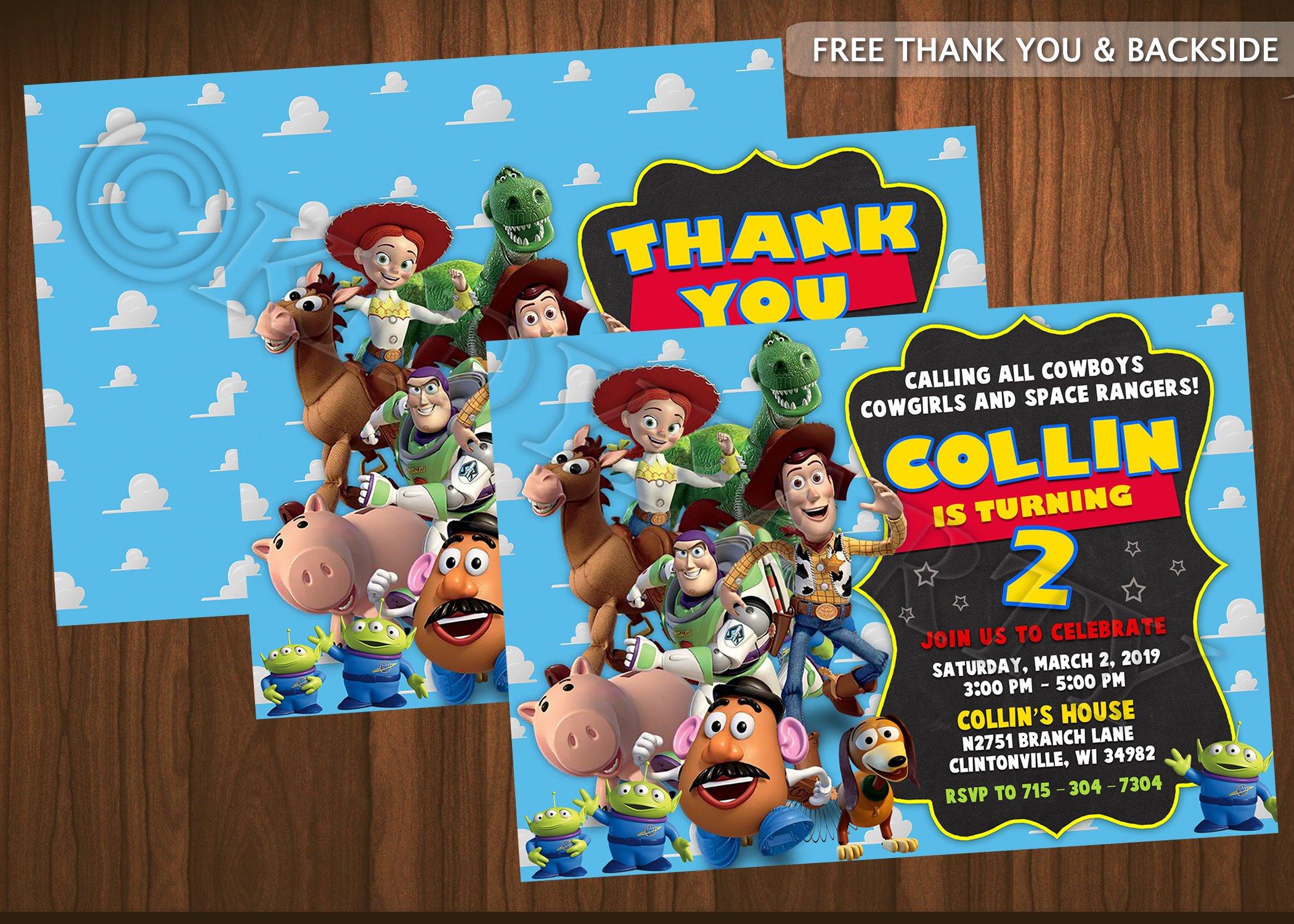 Toy Story Invitation Toy Story Birthday Toy Story Party Woody   Etsy - Toy Story Birthday Card Printable Free