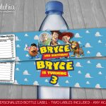Toy Story Water Bottle Label Personalized Disney Toy Story | Etsy – Free Printable Toy Story Water Bottle Labels