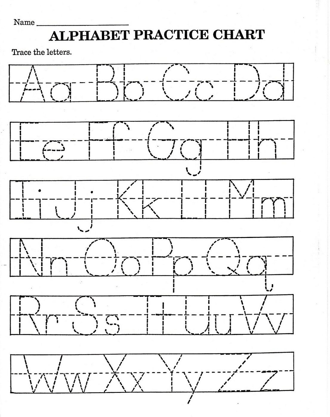 Trace Letter Worksheets Free   Reading And Phonics   Alphabet - Free Printable Toddler Worksheets
