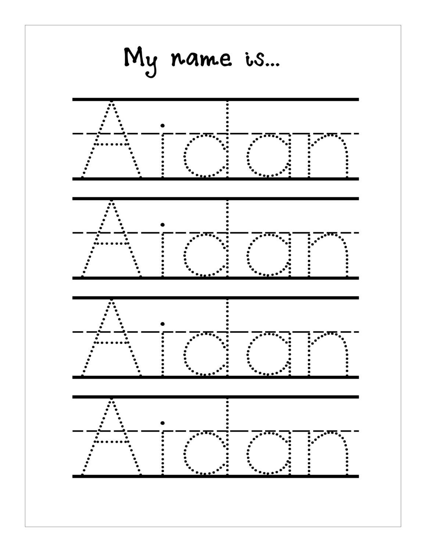 Trace Your Name Worksheet Printable Kiddo Shelter   Best Worksheet - Free Printable Name Tracing Worksheets
