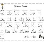 Tracing Alphabet Letters Printable Printable Tracing Letter Free   Free Printable Alphabet Letters Upper And Lower Case