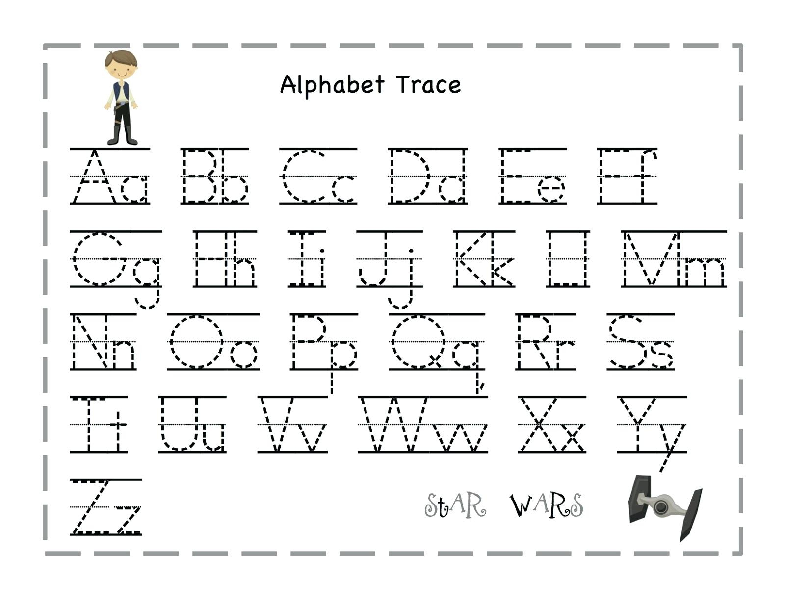 Tracing Alphabet Letters Printable Printable Tracing Letter Free - Free Printable Alphabet Letters Upper And Lower Case