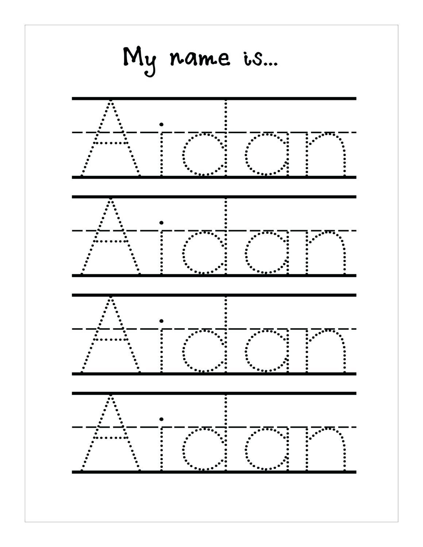 Tracing Name Sheets Handwriting Worksheetsseason Tracing Sheets - Free Printable Name Tracing Worksheets For Preschoolers