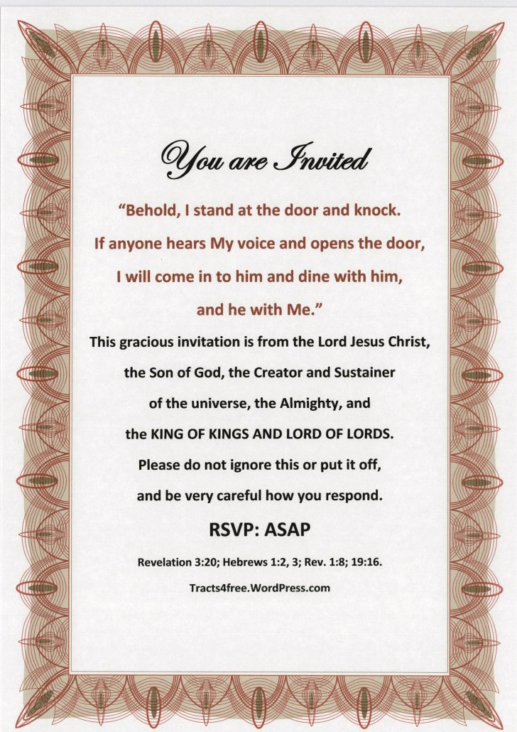 Free Printable Tracts For Evangelism