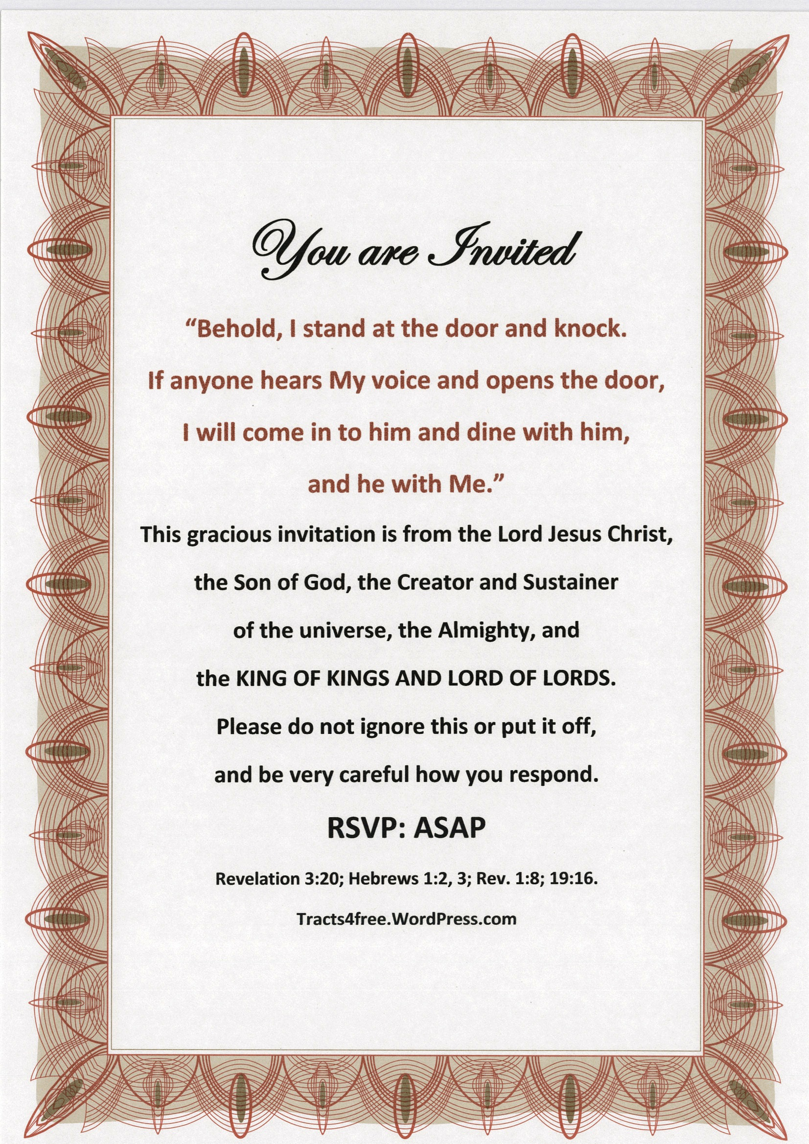 Tracts4Free | Downloadable Free Christian Tracts, Free Printable - Free Printable Tracts For Evangelism