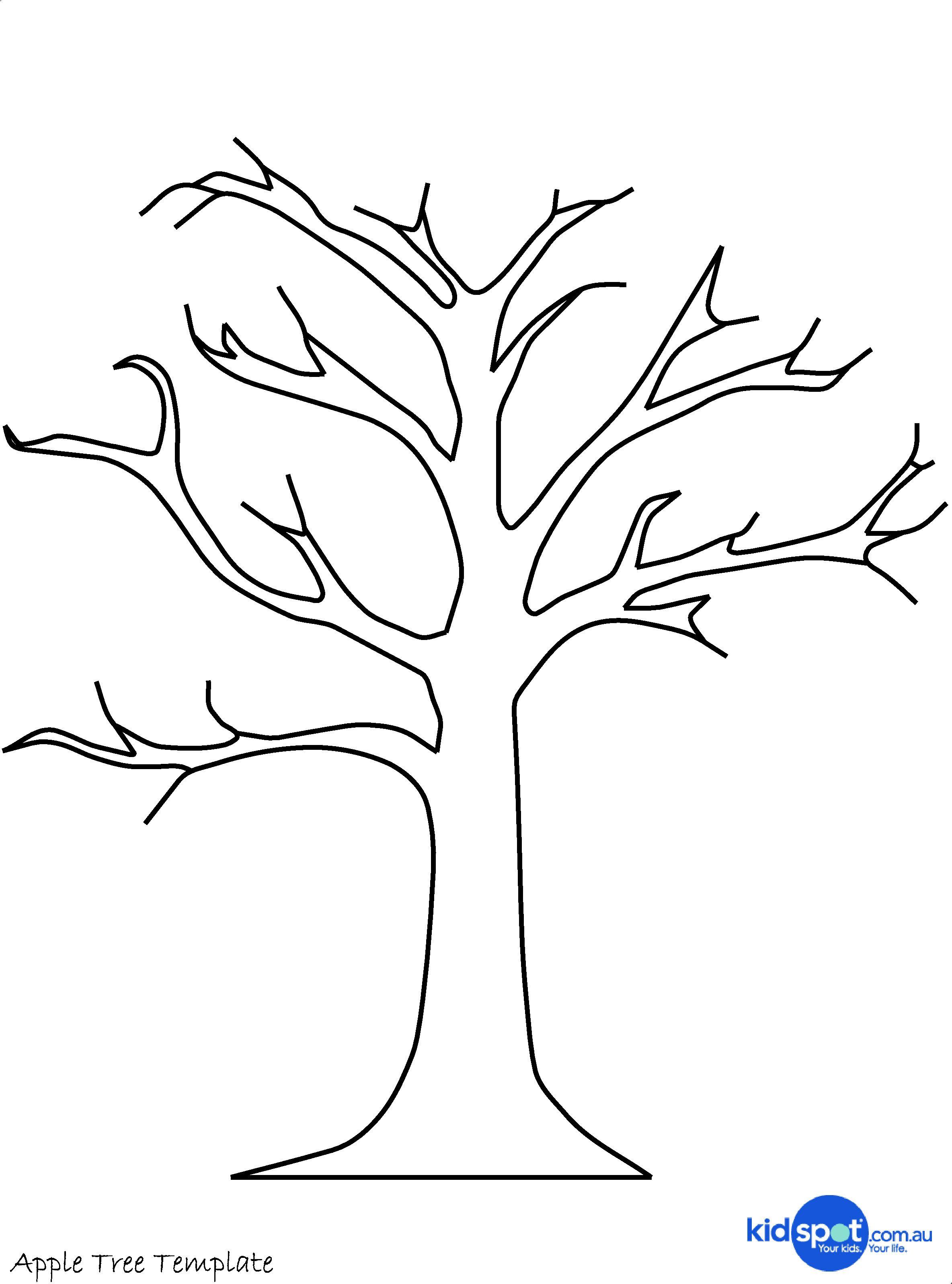 Tree Craft: Cork Stamp Apple Tree   Clip Art   Tree Templates, Tree - Free Printable Tree Template