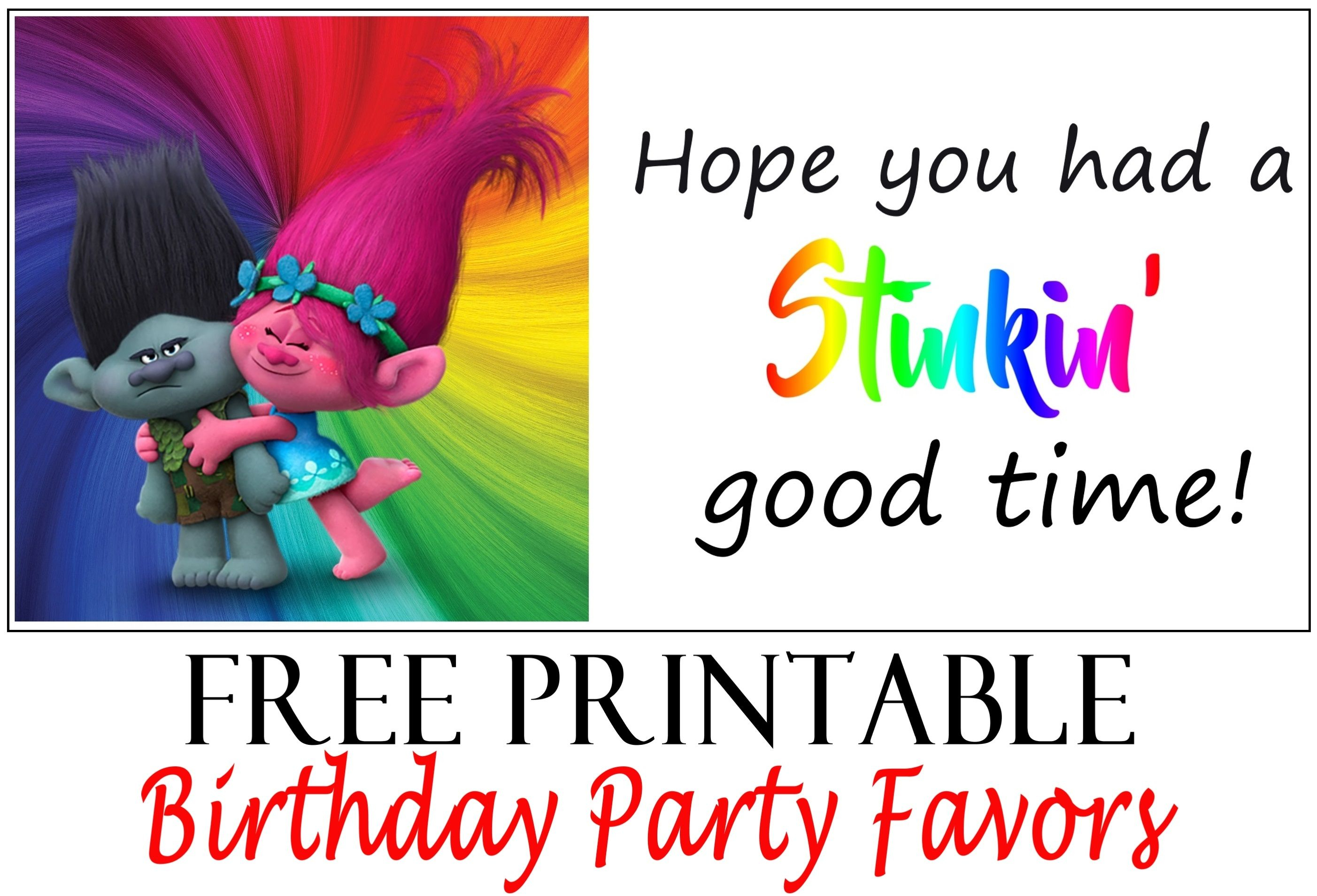 Trolls Birthday Party Printable Tags | Party Printables | Trolls - Free Printable Trolls