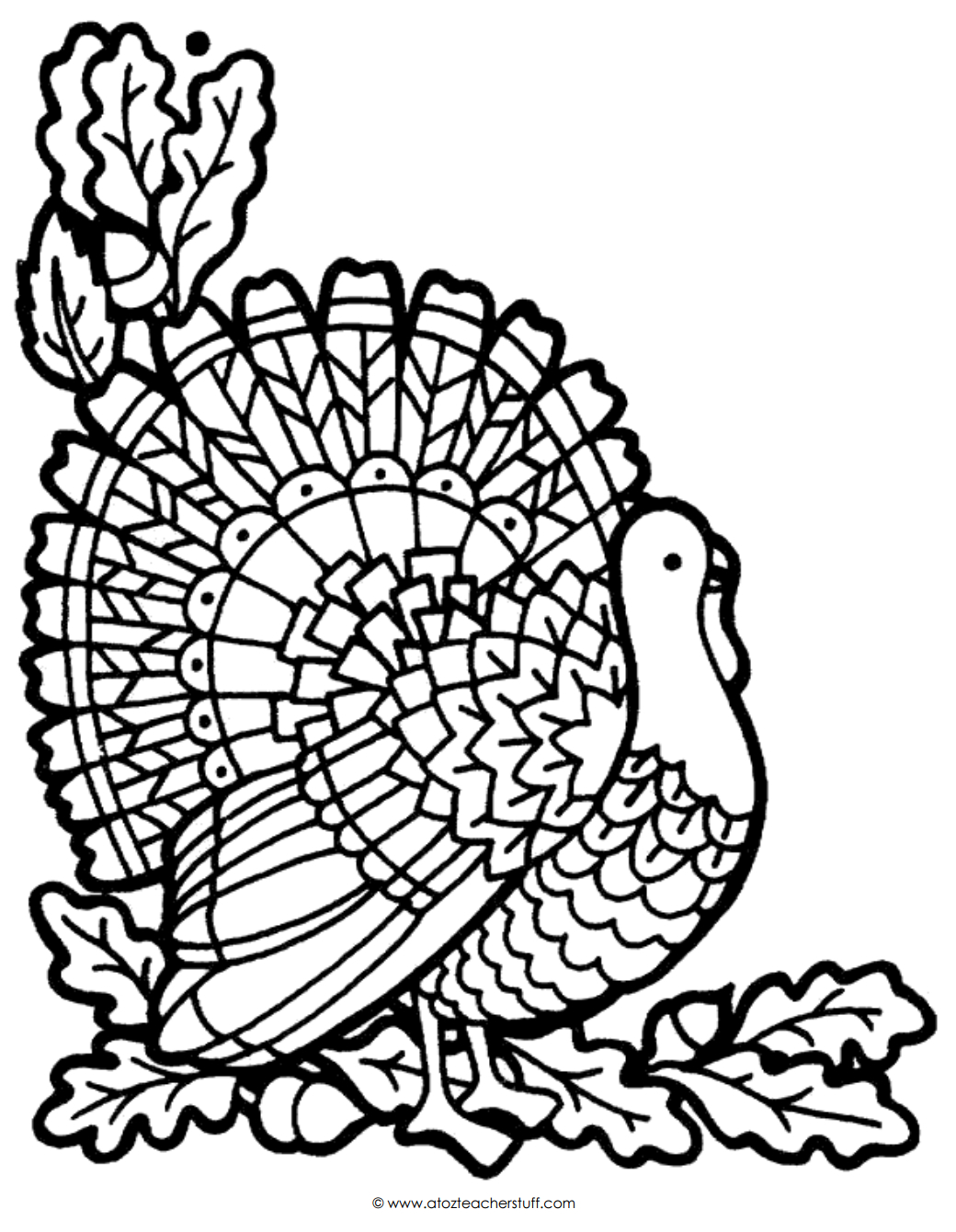 Turkey Coloring Page | A To Z Teacher Stuff Printable Pages And - Free Printable Pictures Of Turkeys To Color