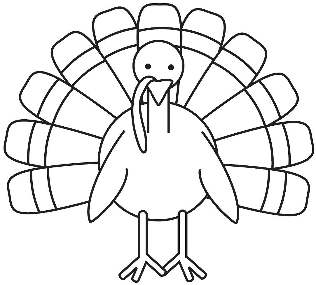 Turkey Coloring Page - Free Large Images | School Decoration Ideas - Free Printable Turkey Template