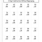 Two Digit Subtraction Without Regrouping Worksheet | 2Nd Grade   Free Printable Subtraction Worksheets For 2Nd Grade