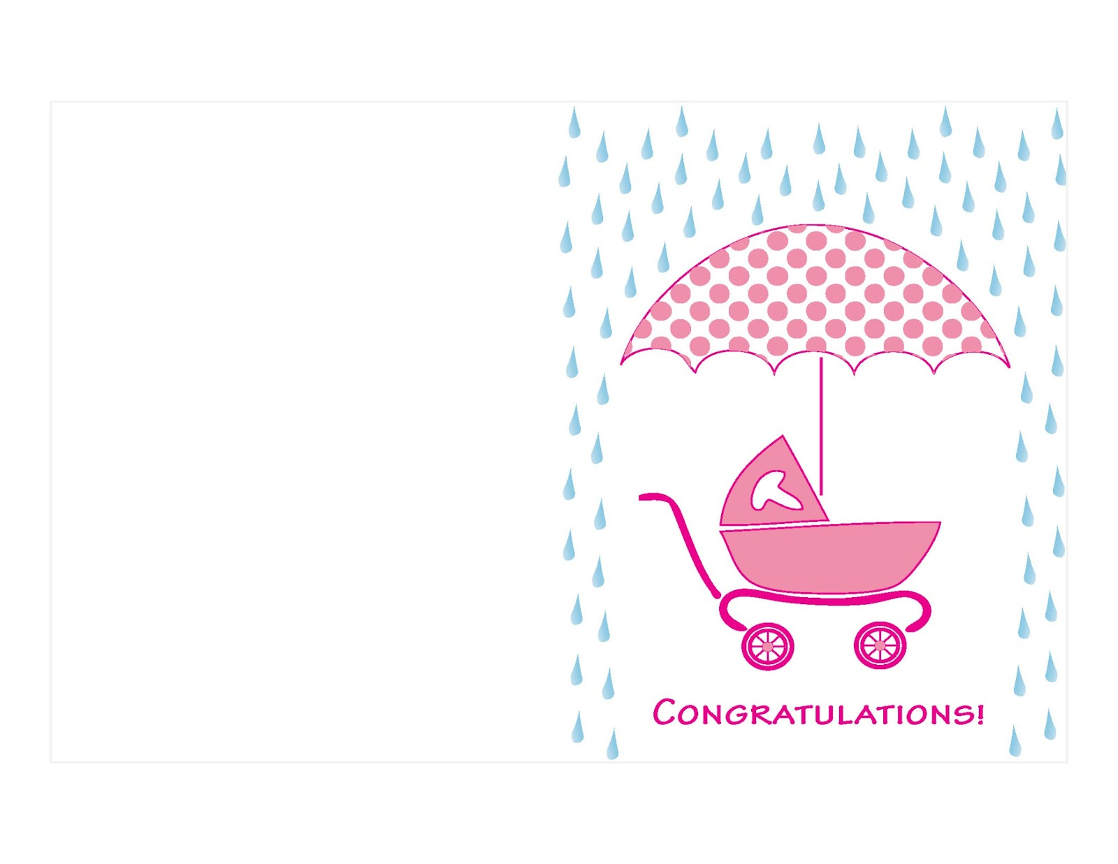 Twocreativewomen More Free Greeting Card Printables Salmon Shower - Free Printable Congratulations Baby Cards