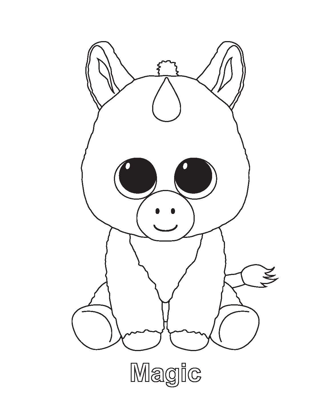 Ty Beanie Boo Coloring Pages Download And Print For Free | C's Pet - Free Printable Beanie Boo Coloring Pages