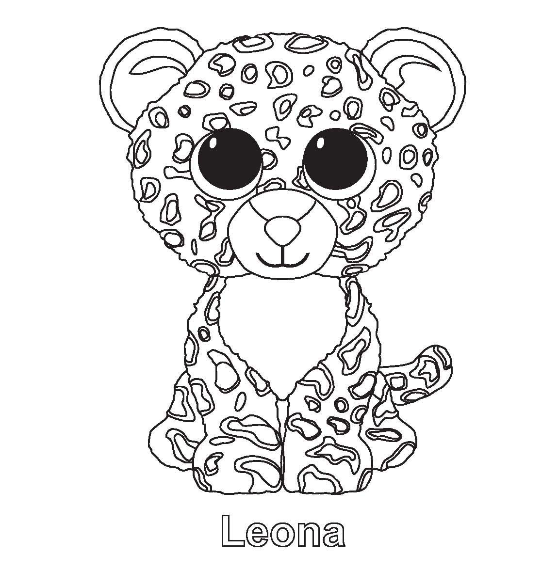 Ty Beanie Boo Coloring Pages Download And Print For Free | Pet Party - Free Printable Beanie Boo Coloring Pages