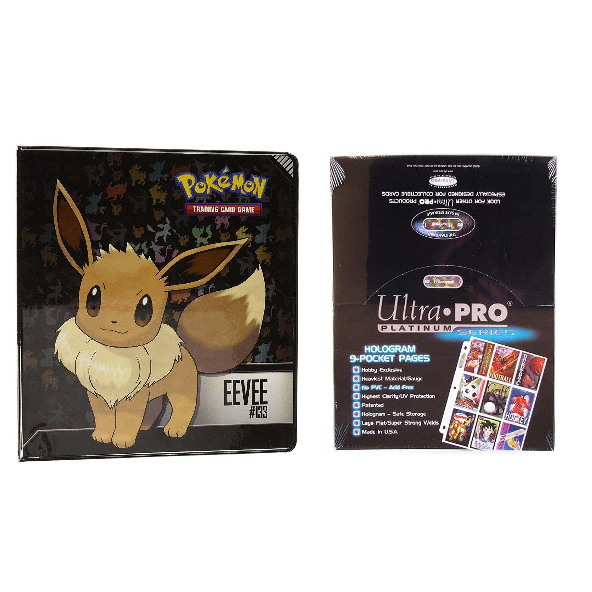 Ultra Pro Pokémon Eevee 2 3-Ring Binder Card Album With 100 Ultra - Pokemon Binder Cover Printable Free