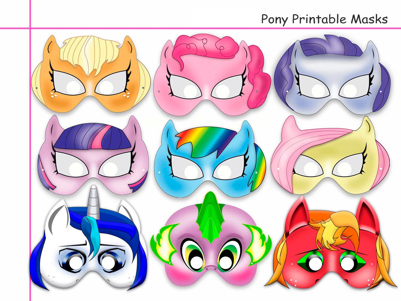 Unique Pony Printable Masks, Party Mask, | Holidaypartystar - Free My Little Pony Printable Masks