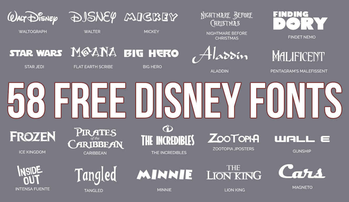 Updated: 59 Free Disney Fonts (March 2019 Edition) - Free Printable Fonts No Download