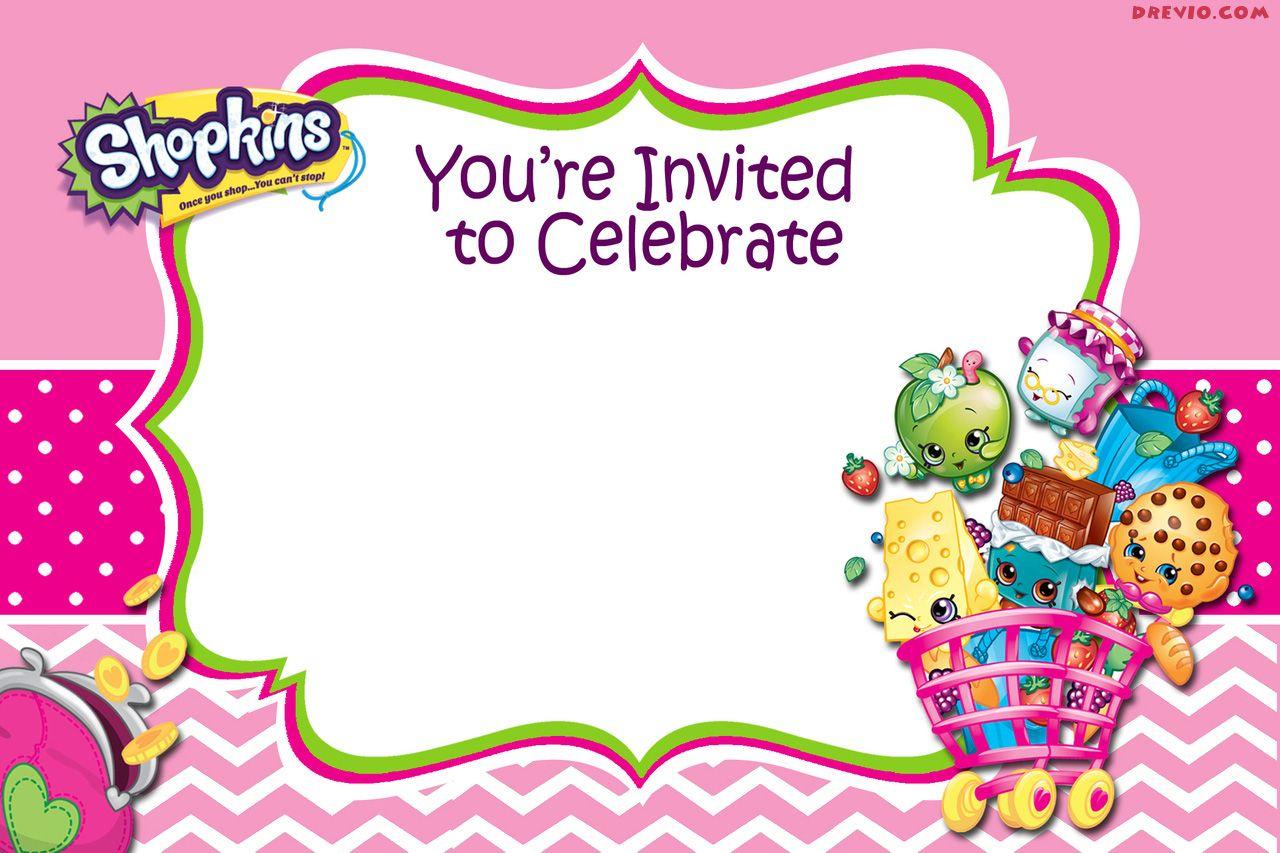 Updated - Free Printable Shopkins Birthday Invitation   Free - Free Printable Shopkins Birthday Invitations