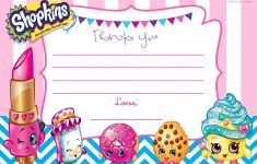 Free Printable Shopkins Invitations