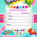 Updated – Free Printable Shopkins Birthday Invitation Template   Free Printable Shopkins Thank You Cards