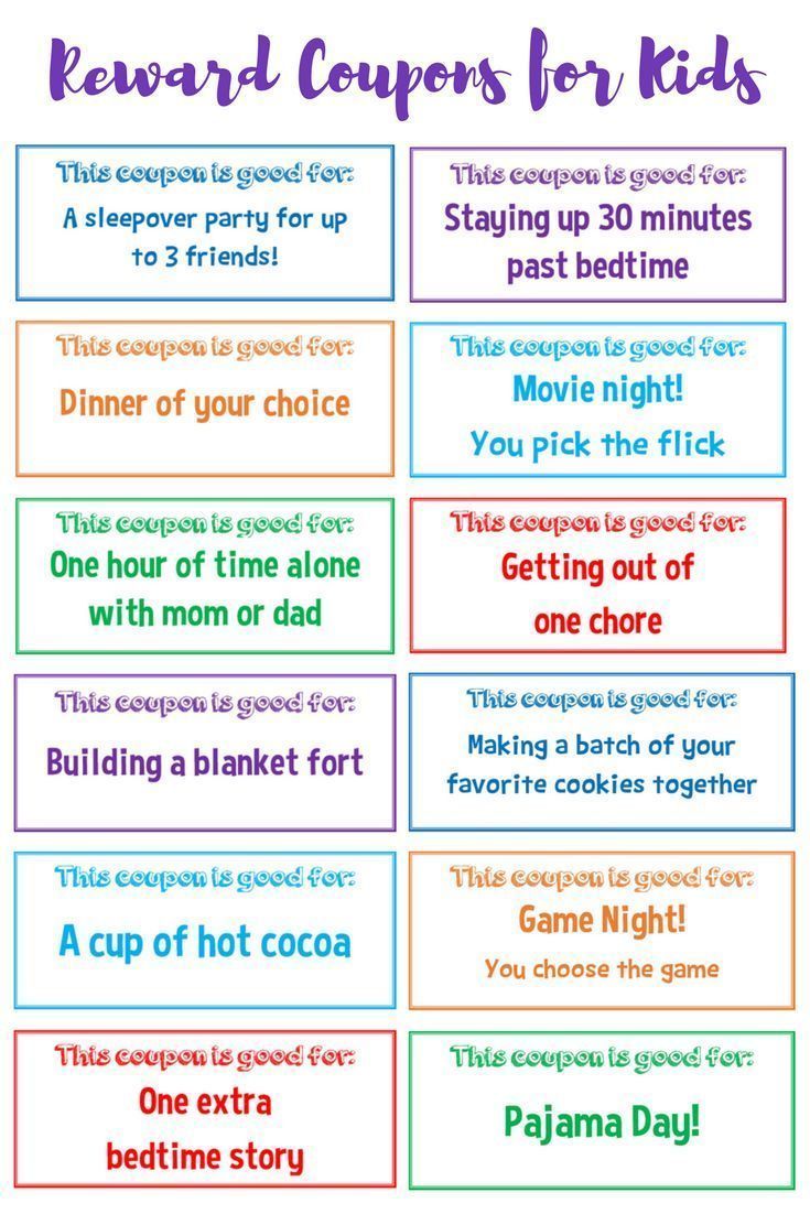 Use These Free Printable Reward Coupons For Kids To Positively - Free Printable Las Vegas Coupons 2014