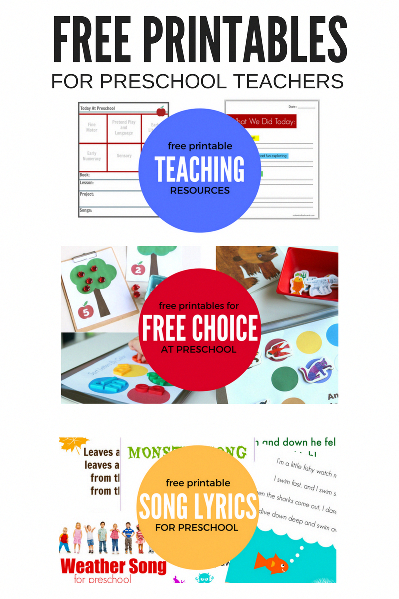 Use These Free Printables For Preschool In Your Classroom Or Your - Free Printable Preschool Teacher Resources