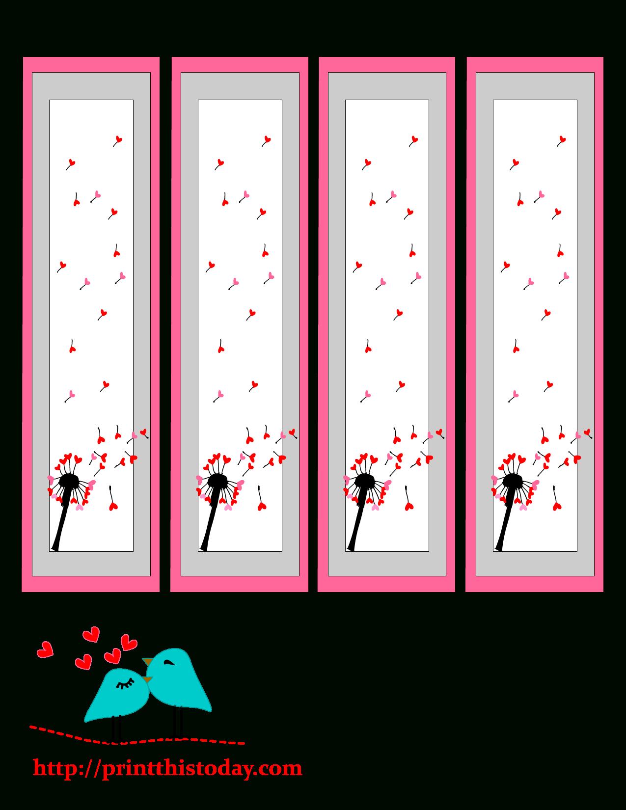 Valentine Bookmarks To Print - Free Printable Valentine Bookmarks