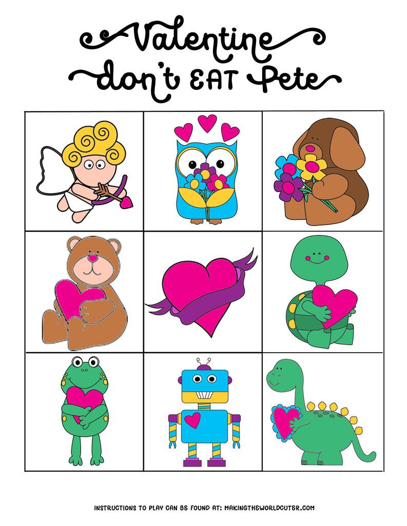 Valentine-Don't-Eat-Pete-Color-4X6 - Don T Eat Pete Free Printable