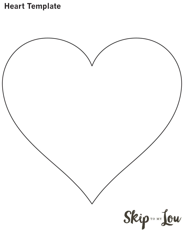 Valentine Heart Attack Idea With Free Printable Heart Template - Free Printable Heart Templates