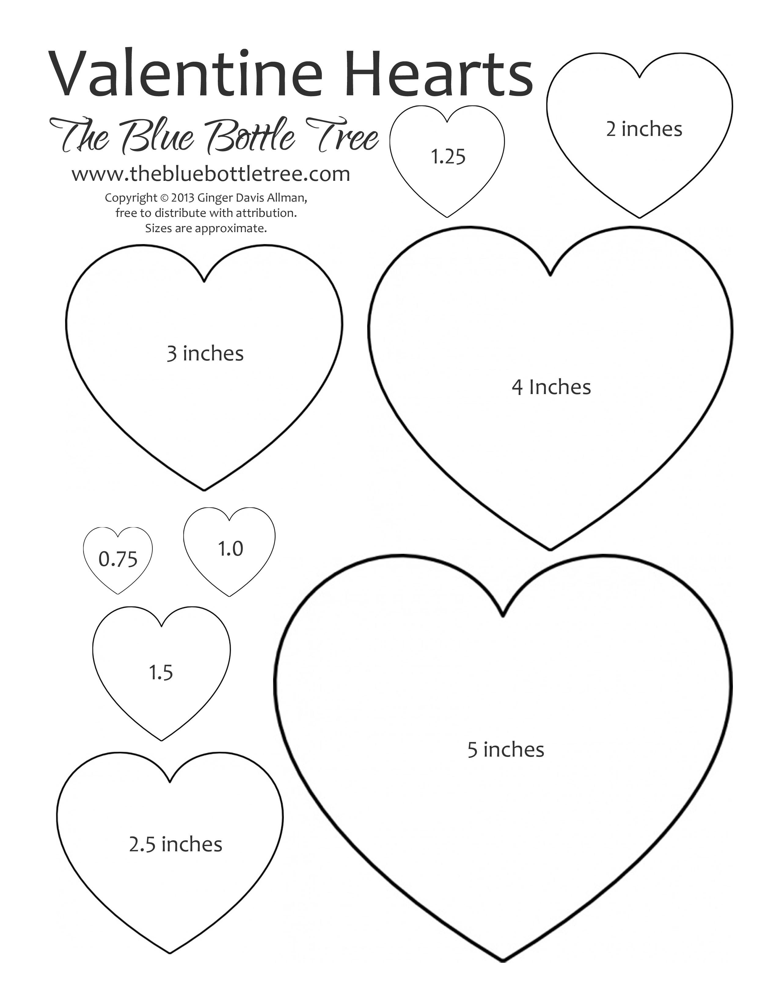 Valentine Heart Printable Clipart | Crafting Tips And Tricks - Free Printable Valentine Heart Patterns