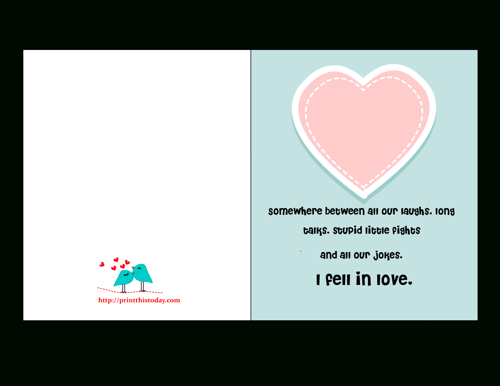 Valentines Day Card For Husband Printable Free - Free Printable Romantic Birthday Cards