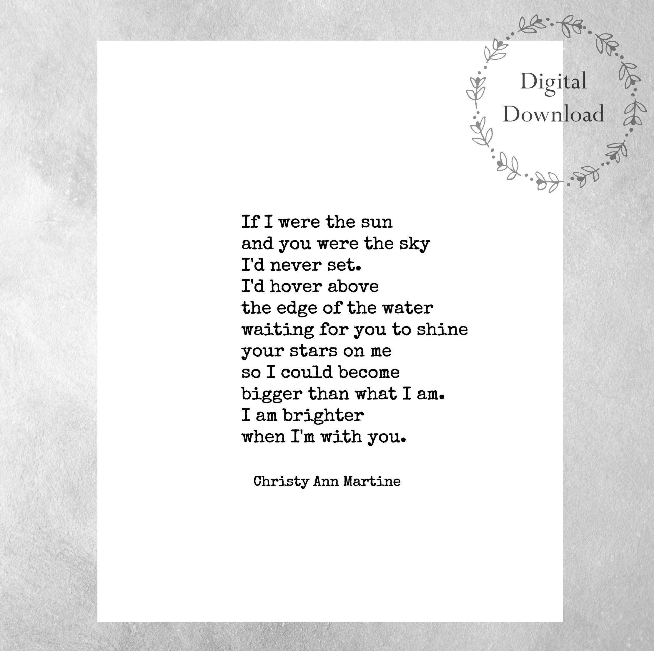 Valentines Day Gift For Him Or Her - Boyfriend Anniversary Gifts - Free Printable Love Poems For Him