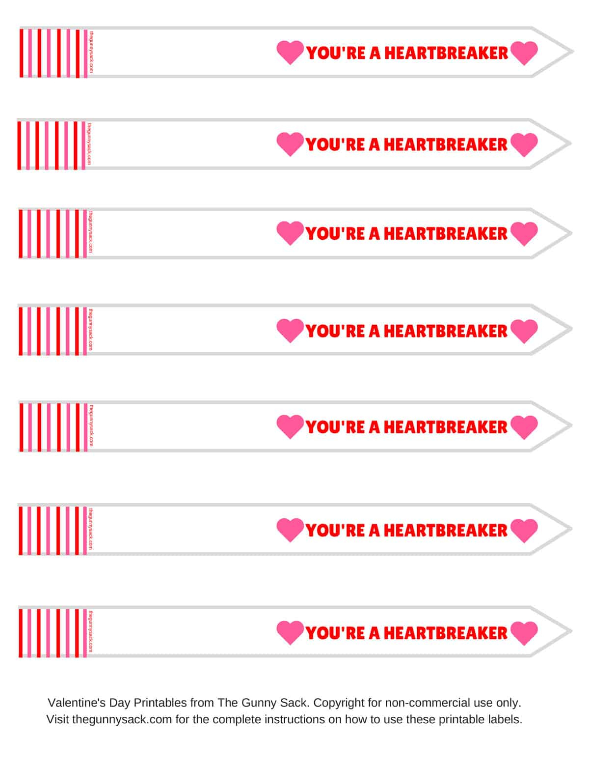 Valentine's Day Ideas With Free Printable Labels For Test Tubes And - Free Printable Heart Labels