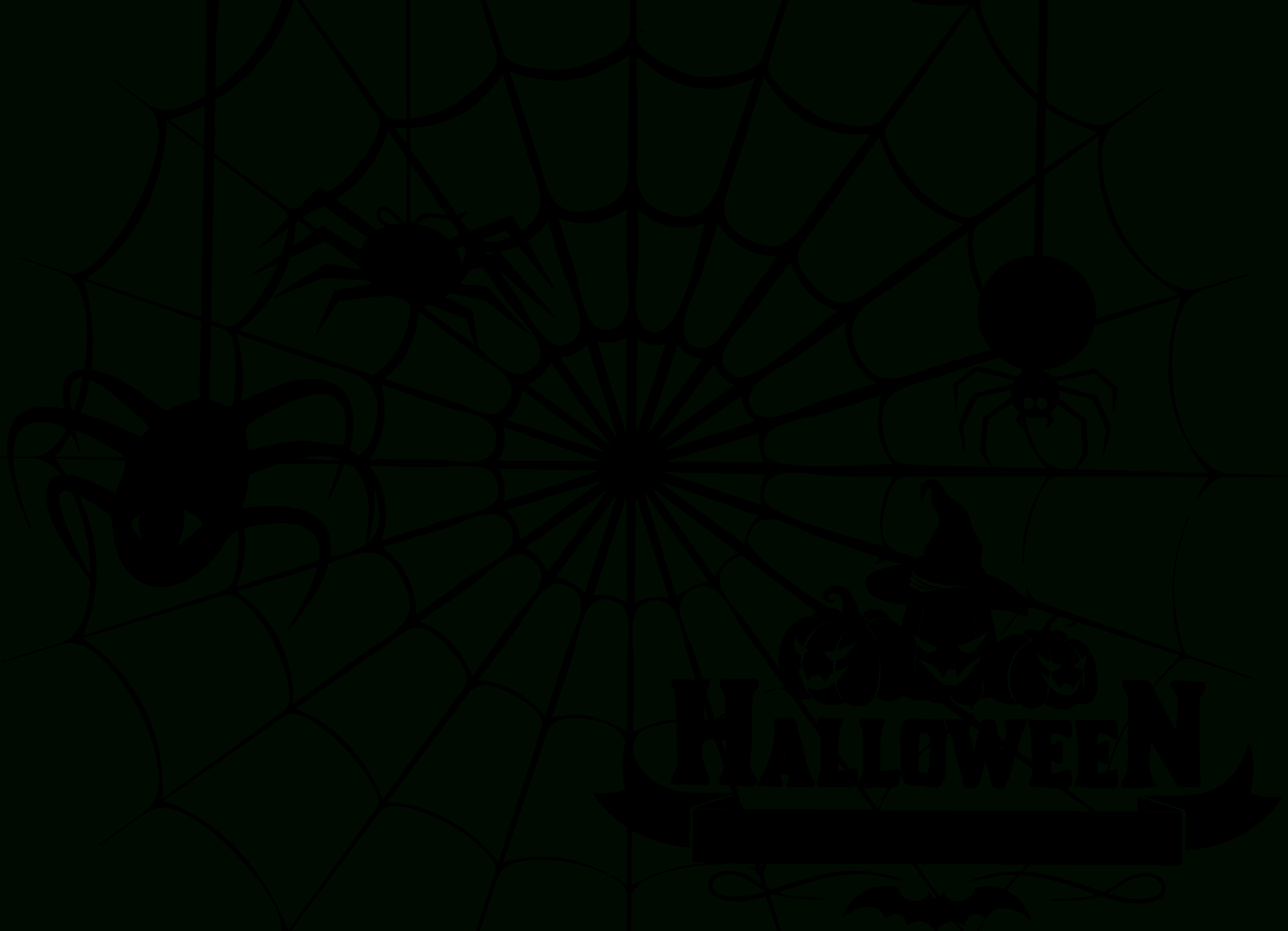 Vector Free Library Halloween Spiders - Rr Collections - Spider Web Stencil Free Printable