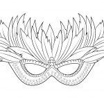 Venetian Mardi Gras Mask Coloring Page | Free Printable Coloring   Free Printable Mardi Gras Masks
