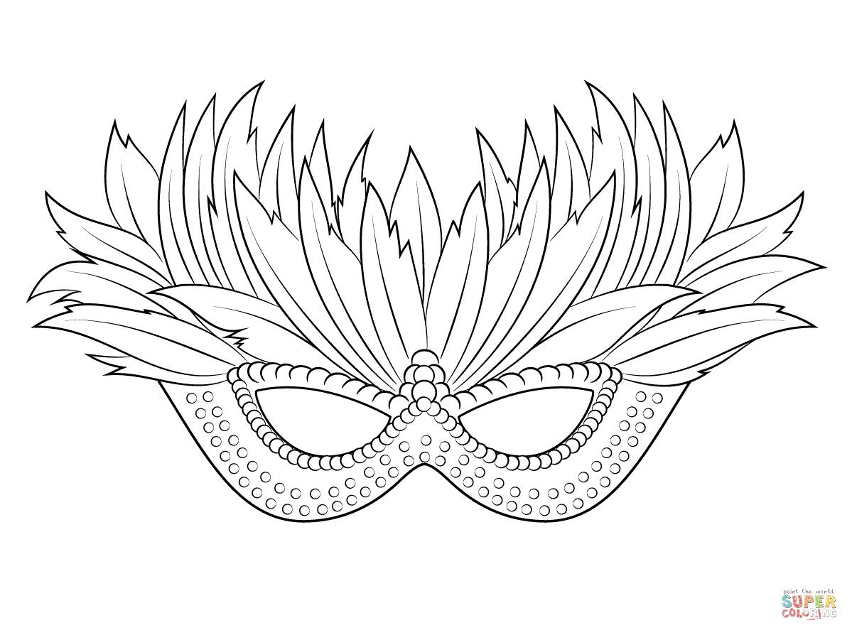 Venetian Mardi Gras Mask Coloring Page | Free Printable Coloring - Free Printable Mardi Gras Masks