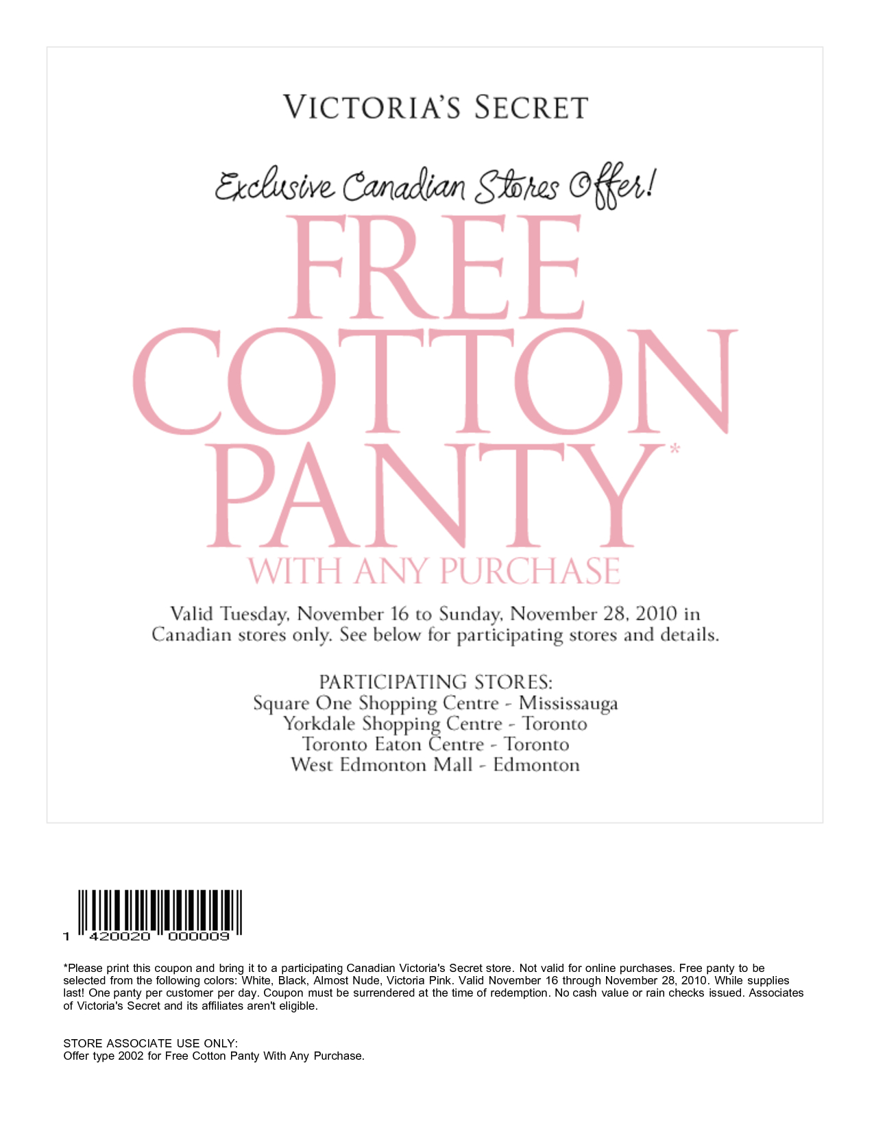 Victorias Secret Coupons Code 2017 | Printable Coupons Online - Free Printable Coupons 2017