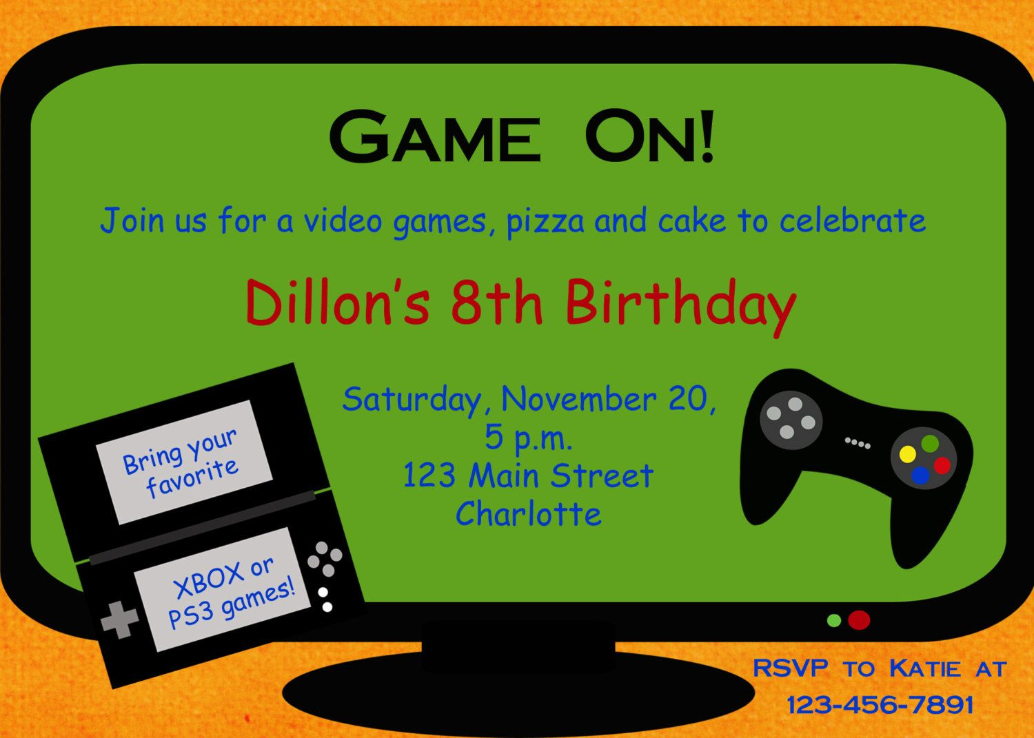 Video Game Party Invitation Template Free - Google Search | Party Ideas - Free Printable Video Game Party Invitations