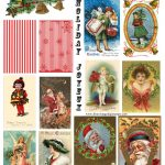 Vintage Cards Free | Free Vintage Digital Stamps**: Free Vintage   Free Printable Christmas Photo Collage