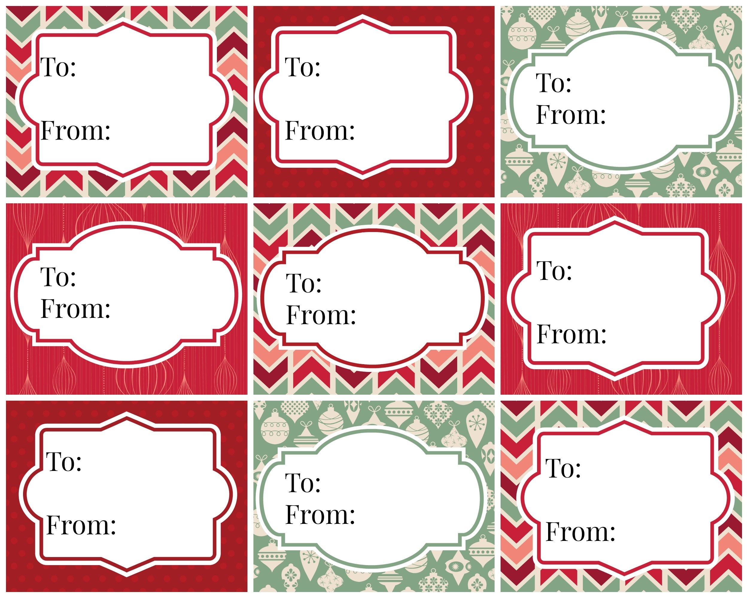 Vintage Christmas Gift Tags - Free Printables | Refresh Restyle - Free Printable Vintage Christmas Tags For Gifts