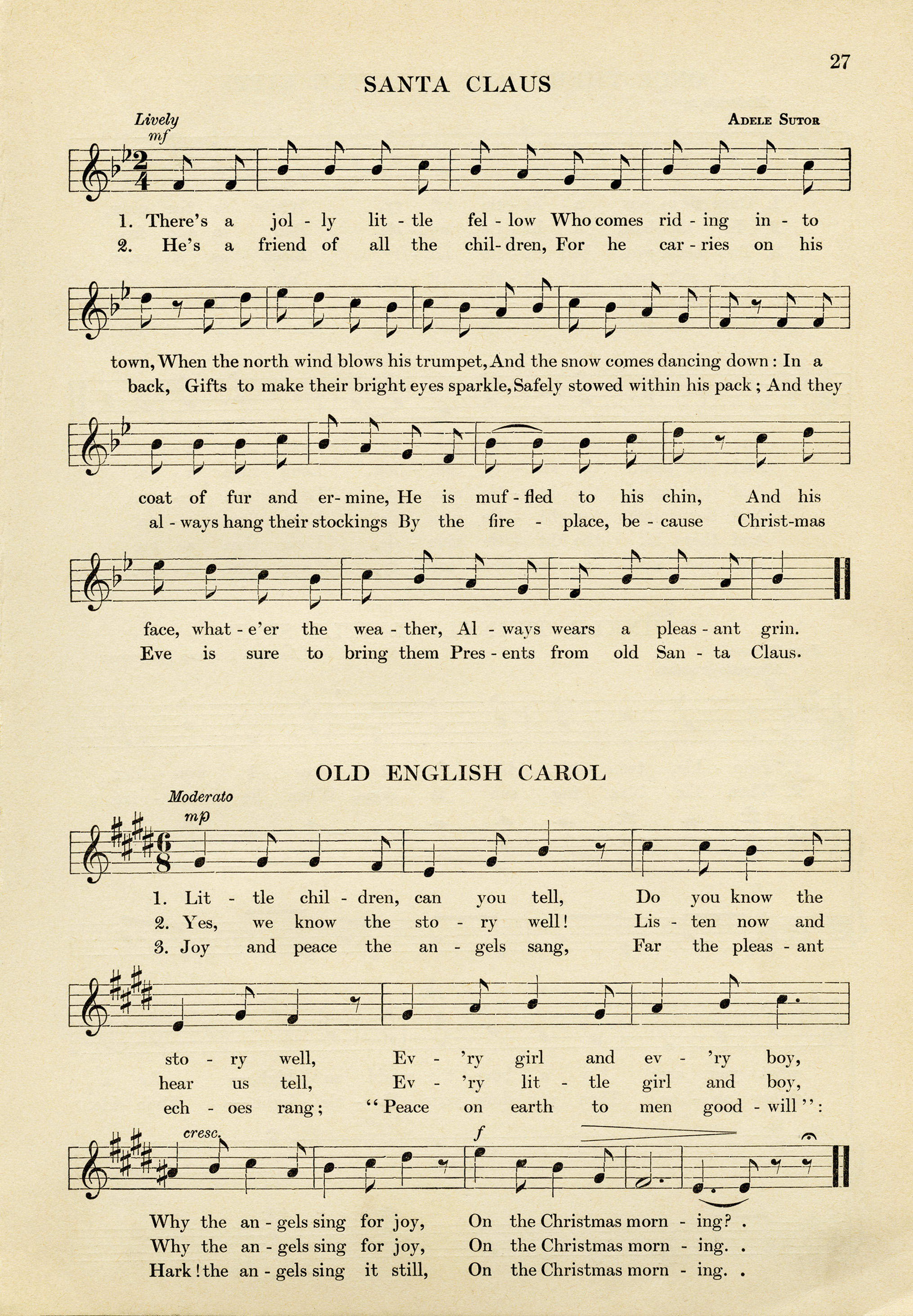 image regarding Free Printable Vintage Christmas Sheet Music called Xmas Carols Sheet Tunes Totally free Printable Absolutely free Printable