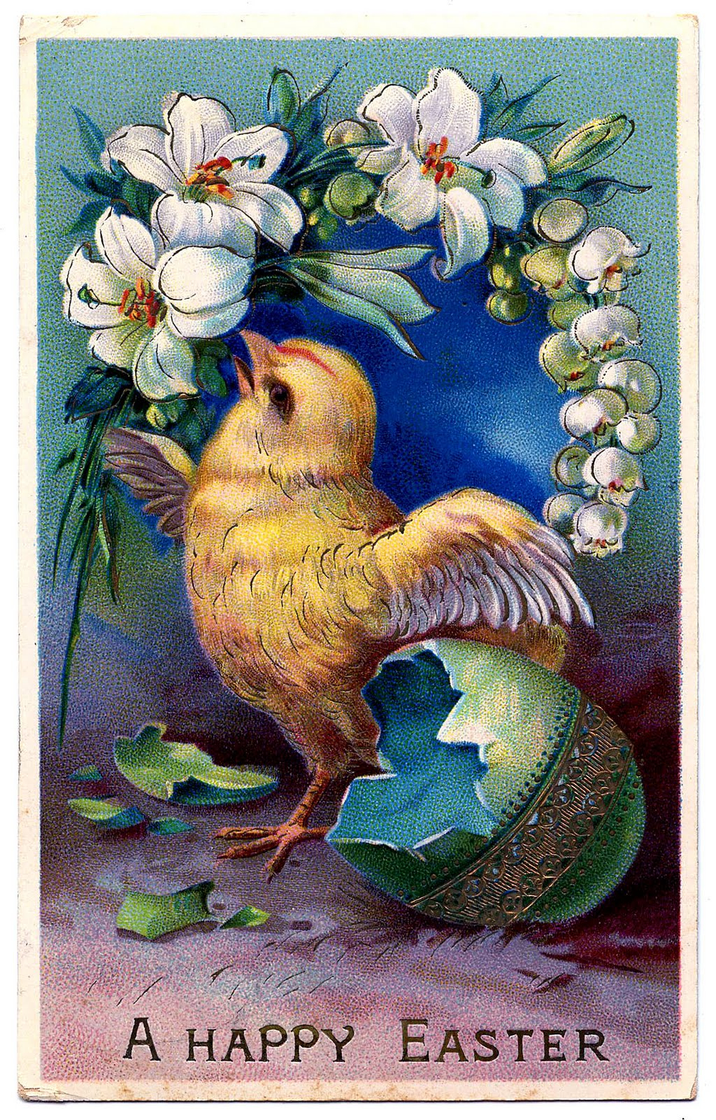 Vintage Easter Clip Art - Sweet Baby Chick With Egg - The Graphics Fairy - Free Printable Vintage Easter Images