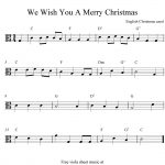 Viola Sheet Music For Christmas | Free Easy Christmas Viola Sheet   Viola Sheet Music Free Printable