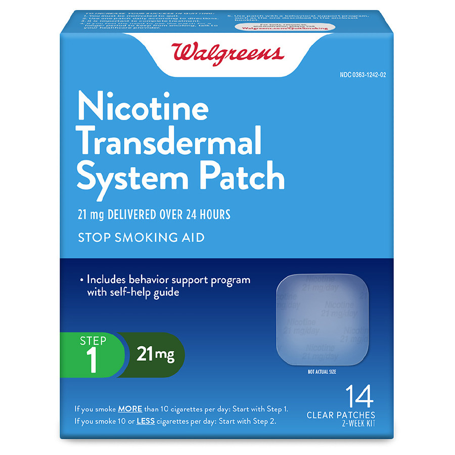 Walgreens Nicotine Patches 21 Mg | Walgreens - Free Printable Nicotine Patch Coupons