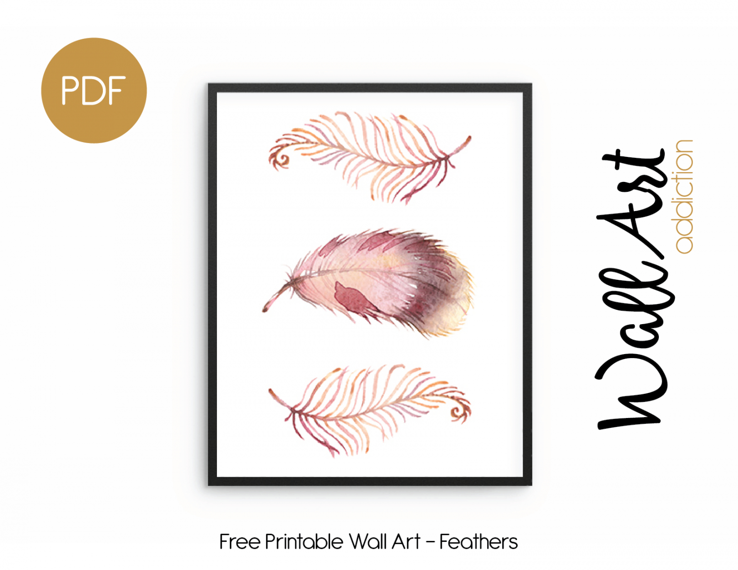 Wall Art Addiction | Feathers - Free Printable Art Pictures