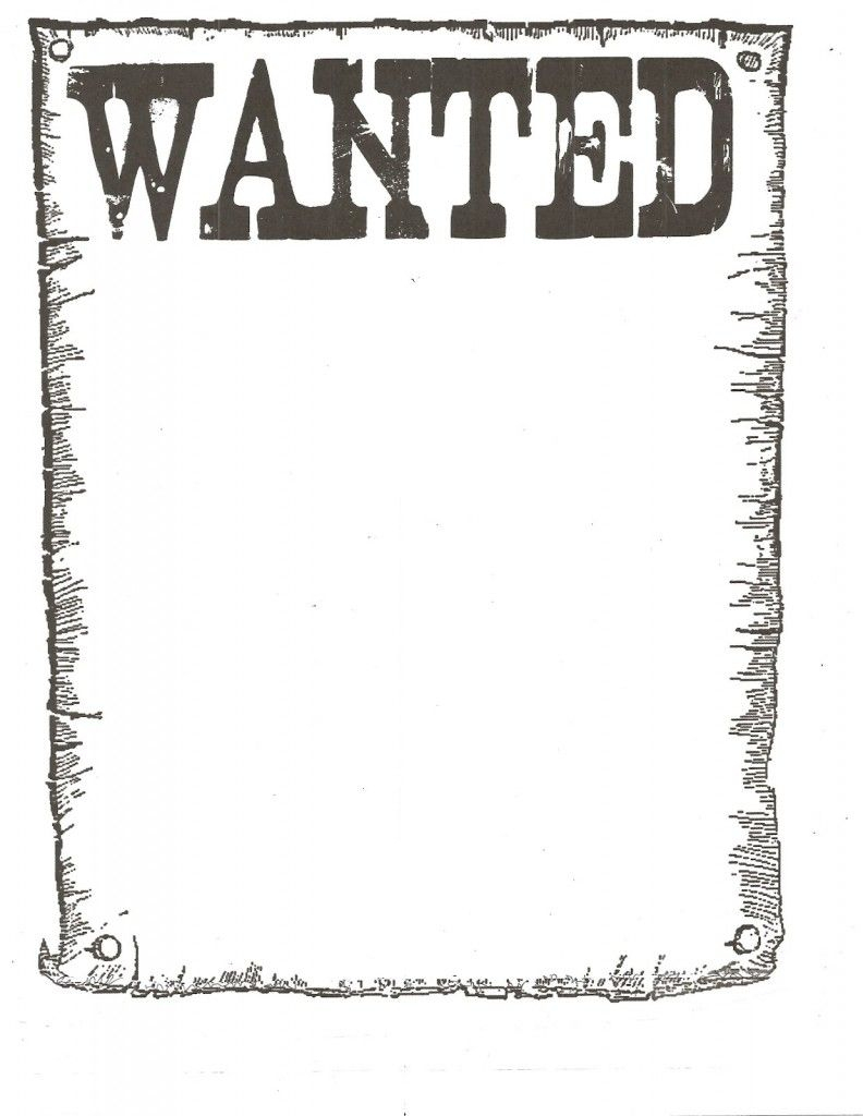 Wanted Poster Template For Kidsclassroom   Books Worth Reading - Free Printable Wanted Poster Invitations