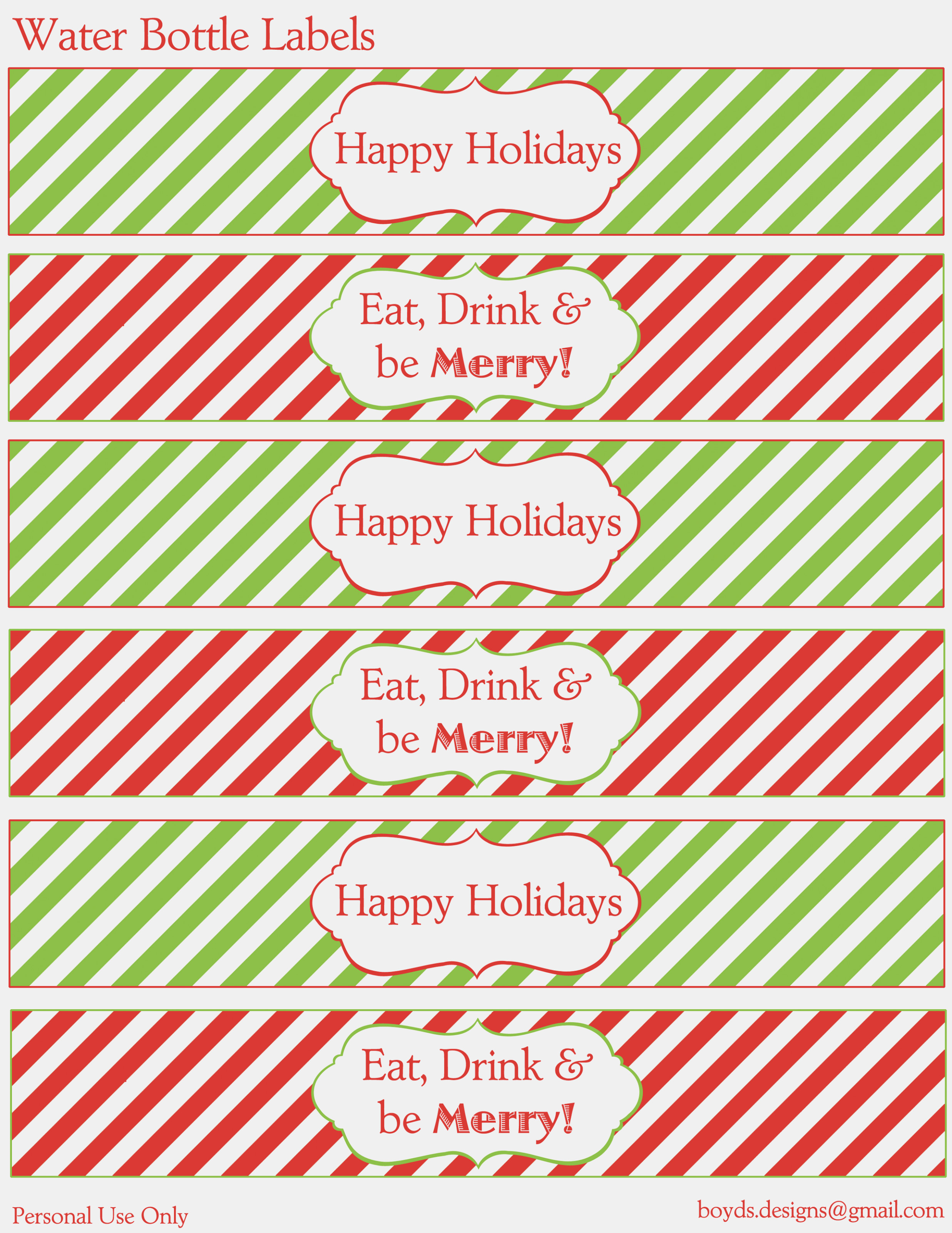 Water Bottle Printables For Christmas – Christmas Printables – Print - Christmas Water Bottle Labels Free Printable