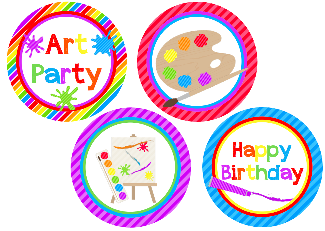 We Heart Parties: Free Printables Art Party Free Printables - Free Printable Party Circles